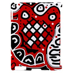Red high art abstraction Apple iPad 2 Hardshell Case (Compatible with Smart Cover)