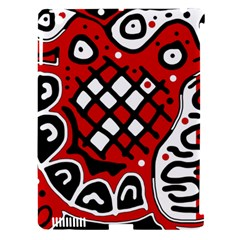 Red high art abstraction Apple iPad 3/4 Hardshell Case (Compatible with Smart Cover)