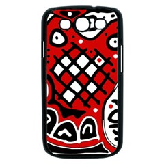 Red high art abstraction Samsung Galaxy S III Case (Black)