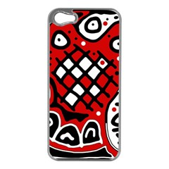 Red high art abstraction Apple iPhone 5 Case (Silver)