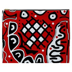 Red high art abstraction Cosmetic Bag (XXXL)