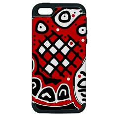 Red high art abstraction Apple iPhone 5 Hardshell Case (PC+Silicone)