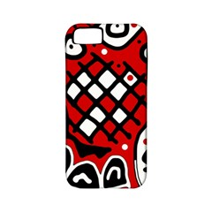 Red high art abstraction Apple iPhone 5 Classic Hardshell Case (PC+Silicone)