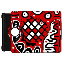 Red high art abstraction Kindle Fire HD Flip 360 Case