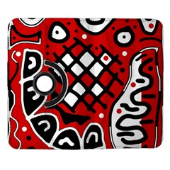 Red high art abstraction Samsung Galaxy Note II Flip 360 Case