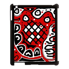 Red high art abstraction Apple iPad 3/4 Case (Black)