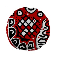 Red high art abstraction Standard 15  Premium Round Cushions