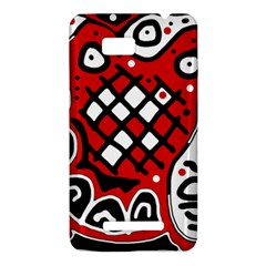 Red high art abstraction HTC One SU T528W Hardshell Case