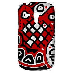 Red high art abstraction Samsung Galaxy S3 MINI I8190 Hardshell Case