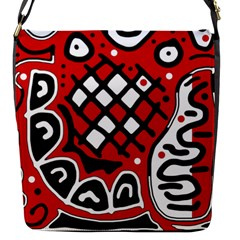 Red high art abstraction Flap Messenger Bag (S)