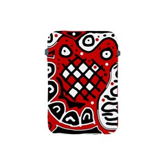 Red high art abstraction Apple iPad Mini Protective Soft Cases