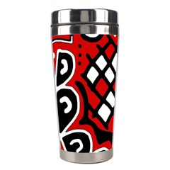 Red high art abstraction Stainless Steel Travel Tumblers