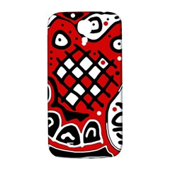 Red high art abstraction Samsung Galaxy S4 I9500/I9505  Hardshell Back Case