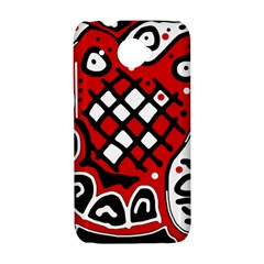 Red high art abstraction HTC Desire 601 Hardshell Case