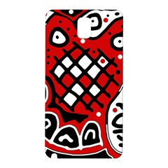 Red high art abstraction Samsung Galaxy Note 3 N9005 Hardshell Back Case