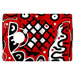 Red high art abstraction Kindle Fire HDX Flip 360 Case