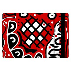 Red high art abstraction iPad Air Flip