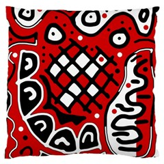 Red high art abstraction Standard Flano Cushion Case (One Side)