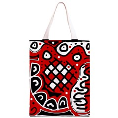 Red high art abstraction Classic Light Tote Bag
