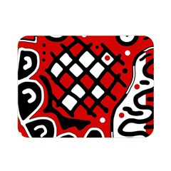 Red high art abstraction Double Sided Flano Blanket (Mini)