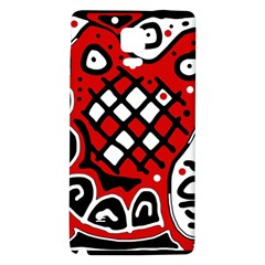 Red high art abstraction Galaxy Note 4 Back Case