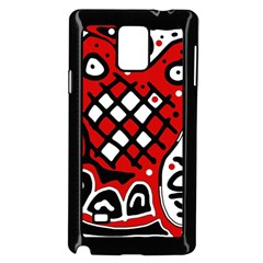 Red high art abstraction Samsung Galaxy Note 4 Case (Black)