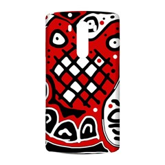 Red high art abstraction LG G3 Back Case