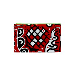 Red high art abstraction Cosmetic Bag (XS)