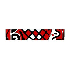 Red high art abstraction Flano Scarf (Mini)