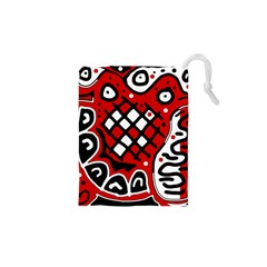 Red high art abstraction Drawstring Pouches (XS)