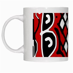 Red high art abstraction White Mugs