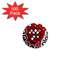 Red high art abstraction 1  Mini Magnets (100 pack)