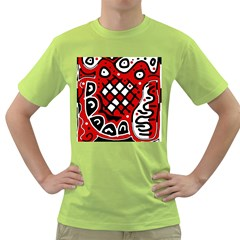 Red high art abstraction Green T-Shirt