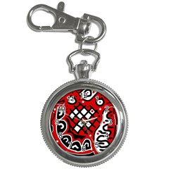 Red high art abstraction Key Chain Watches