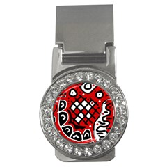Red high art abstraction Money Clips (CZ)