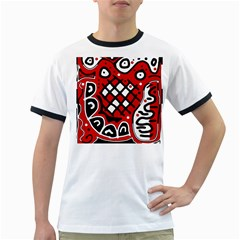 Red high art abstraction Ringer T-Shirts