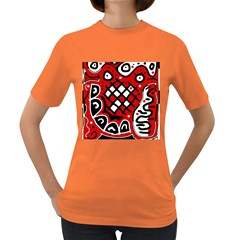 Red high art abstraction Women s Dark T-Shirt
