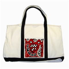 Red high art abstraction Two Tone Tote Bag