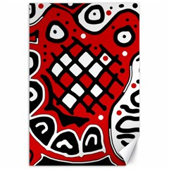 Red high art abstraction Canvas 20  x 30