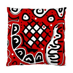 Red high art abstraction Standard Cushion Case (Two Sides)