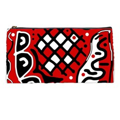 Red high art abstraction Pencil Cases