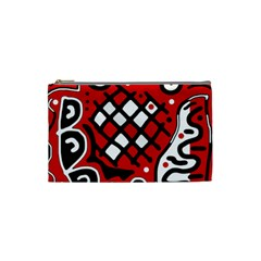 Red high art abstraction Cosmetic Bag (Small)