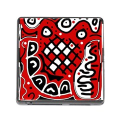 Red high art abstraction Memory Card Reader (Square)
