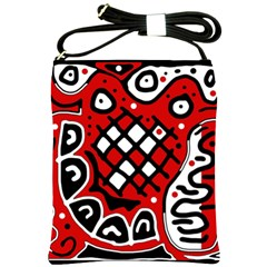 Red high art abstraction Shoulder Sling Bags
