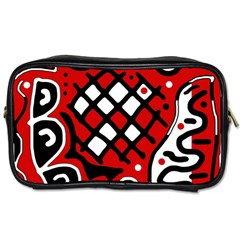 Red high art abstraction Toiletries Bags