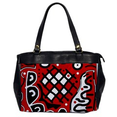 Red high art abstraction Office Handbags