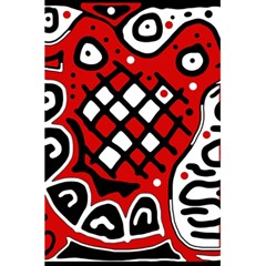 Red high art abstraction 5.5  x 8.5  Notebooks