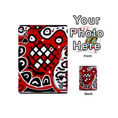 Red high art abstraction Playing Cards 54 (Mini)