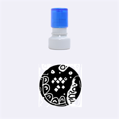 Red high art abstraction Rubber Round Stamps (Small)