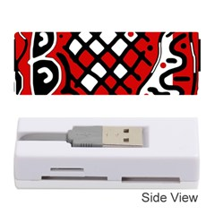 Red high art abstraction Memory Card Reader (Stick)